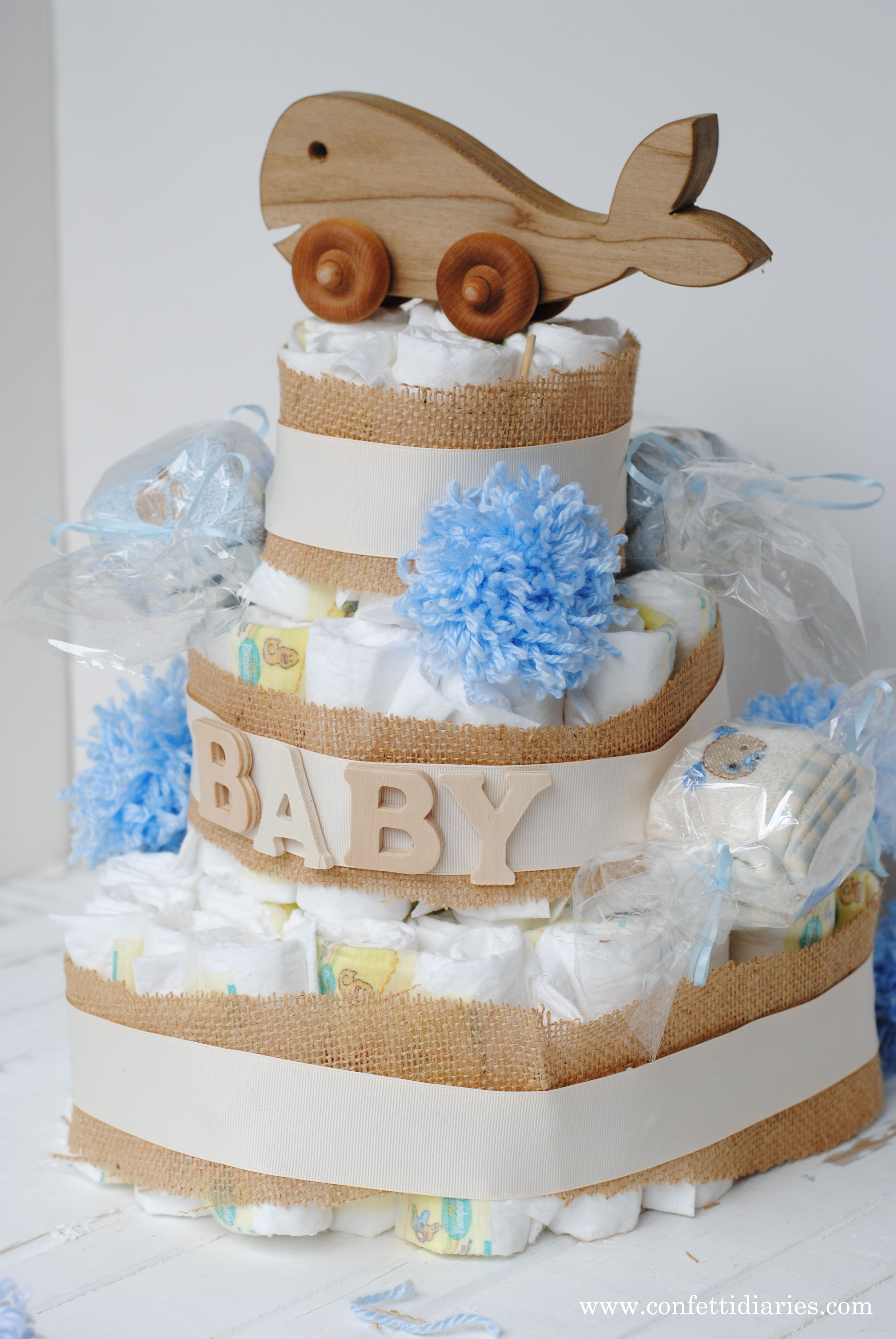 How to Make a Diaper Cake Baby Gift KATARINA S PAPERIE