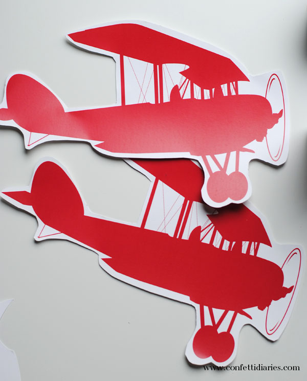 cut out airplane template - free printable airplane party craft katarina 39 s paperie