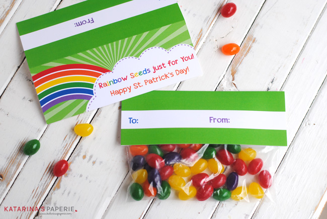 free printable rainbow seeds treat bag topper