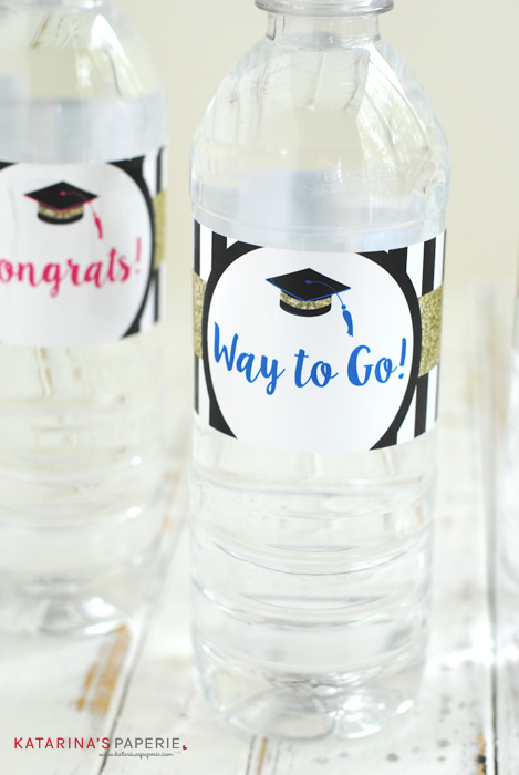 free printable graduation water bottle labels