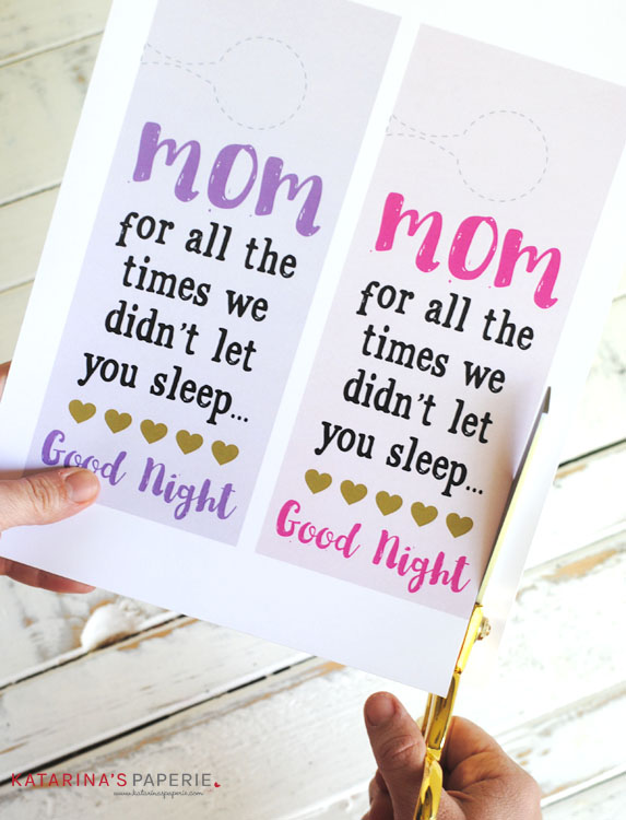 How to make your free printable Mother's Day door hanger