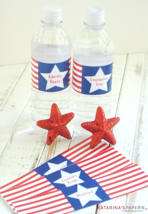 free printable patriotic water bottle labels