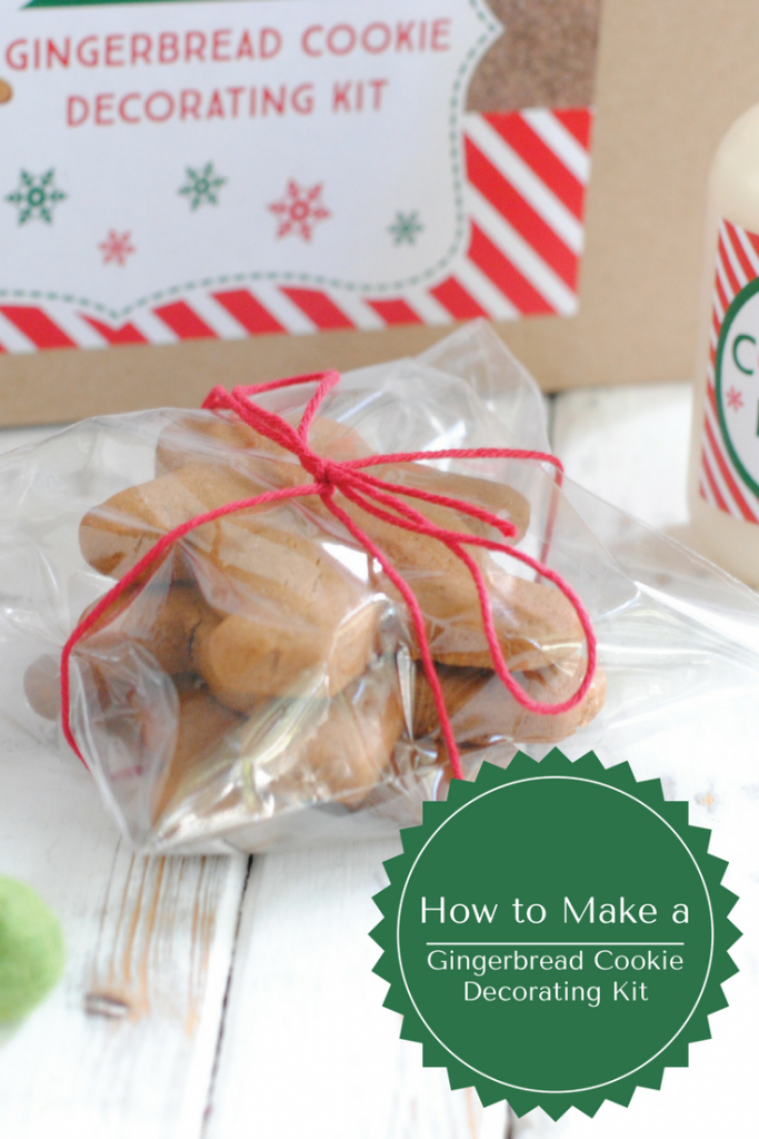 DIY gingerbread cookie decorating kit #Christmas #DIYChristmas #neighborgift