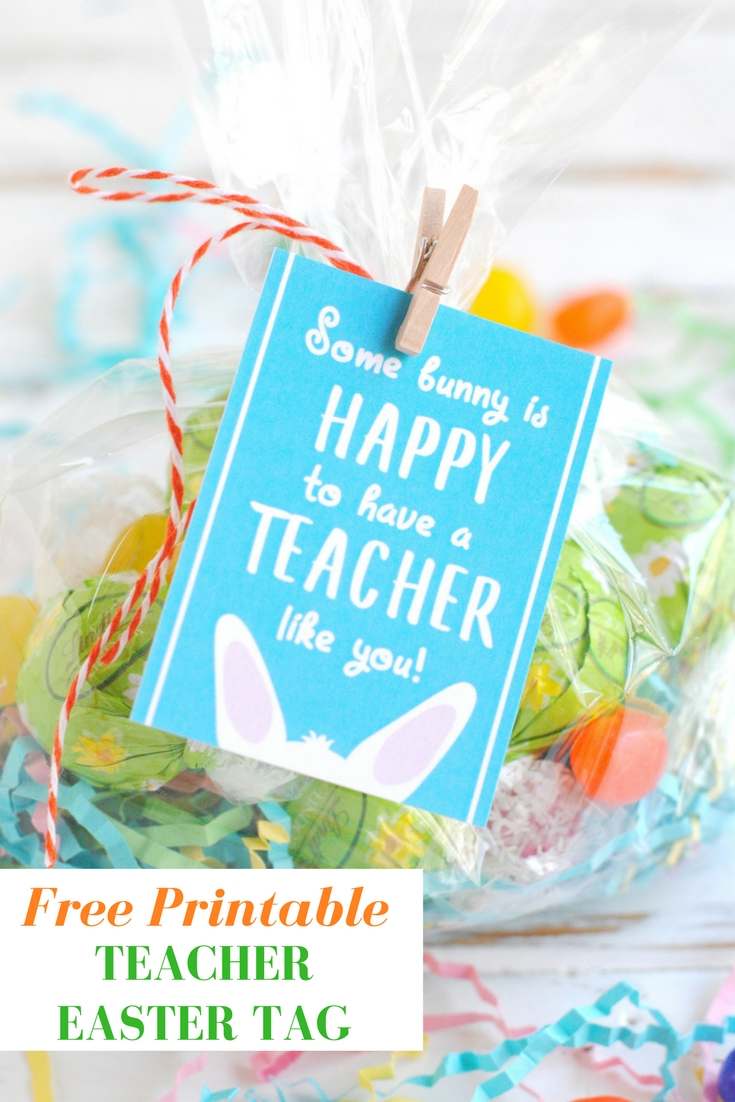 image relating to Free Printable Teacher Gift Tags called No cost Printable Trainer Easter Present Tags - KATARINAS PAPERIE