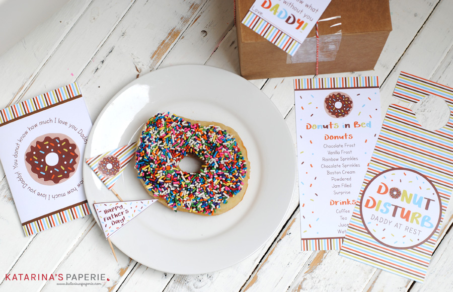 Free printable Father's Day donut collection